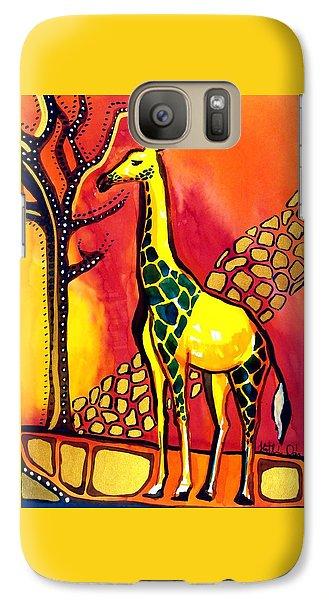 Giraffe With Fire  Galaxy S7 Case