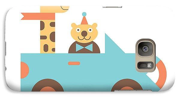 Animal Car Pool Galaxy S7 Case by Mitch Frey
