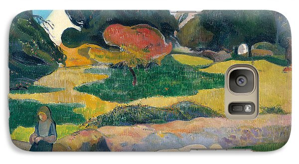 Girl Herding Pigs Galaxy S7 Case by Paul Gauguin