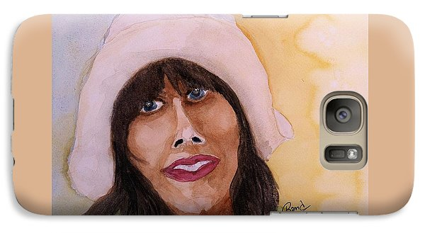 Galaxy Case featuring the painting Girl In Hat by Rand Swift