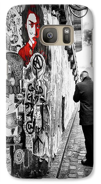 Galaxy Case featuring the photograph Girl In Red by Anthony Citro