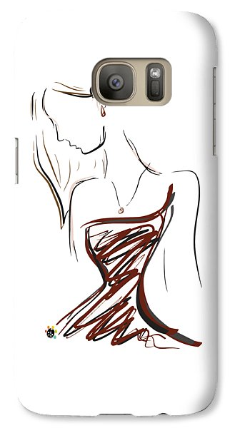 Girl In Red Galaxy S7 Case