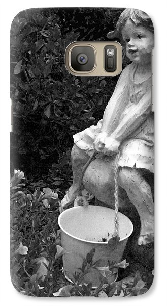 Galaxy Case featuring the photograph Girl On A Mushroom by Sandi OReilly