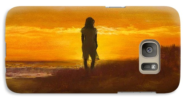 Galaxy Case featuring the painting Girl On The Dunes by Jack Skinner