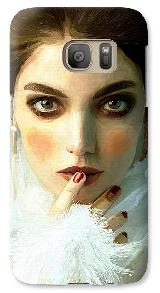 Galaxy Case featuring the painting Girl Ready To Party by James Shepherd