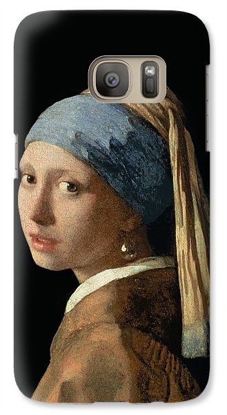 Girl With A Pearl Earring Galaxy Case by Jan Vermeer