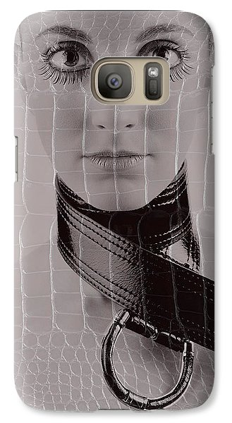 Galaxy Case featuring the photograph Girl With Big Eyes by Michael Edwards