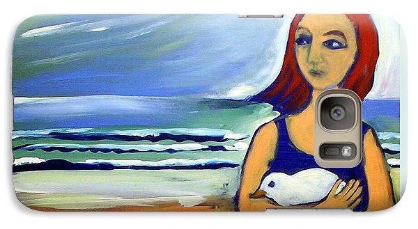 Girl With Bird Galaxy S7 Case