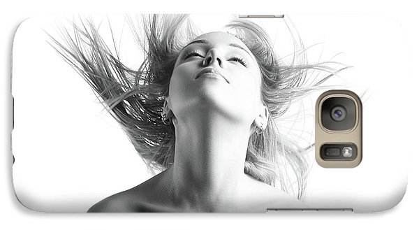 Girl With Flying Blond Hair Galaxy S7 Case by Olena Zaskochenko