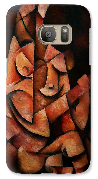 Galaxy Case featuring the painting Girl With Guitar by Kim Gauge
