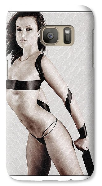 Galaxy Case featuring the photograph Girl With Tape Around Her Breasts by Michael Edwards