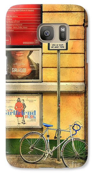Galaxy Case featuring the photograph Girlfriend Bicycle by Craig J Satterlee