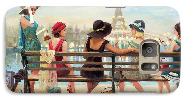 Eiffel Tower Galaxy S7 Case - Girls Day Out by Steve Henderson