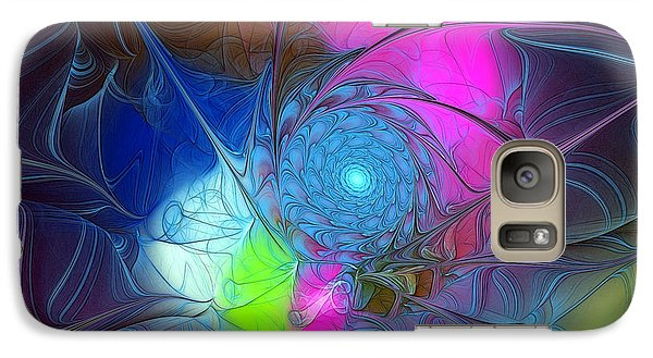 Galaxy Case featuring the digital art Girls Love Pink by Karin Kuhlmann