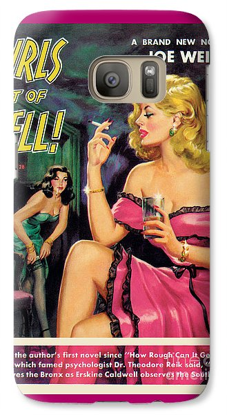 Galaxy Case featuring the painting Girls Out Of Hell by George Gross
