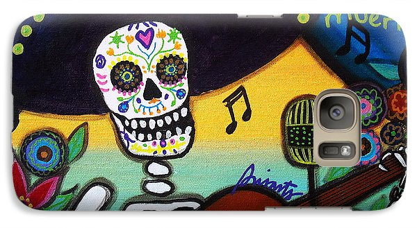 Galaxy Case featuring the painting Gitarero Day Of The Dead by Pristine Cartera Turkus