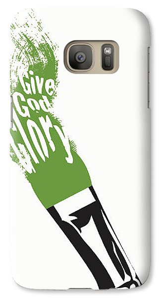 Galaxy Case featuring the digital art Give God Glory  by Christopher Marion Thomas