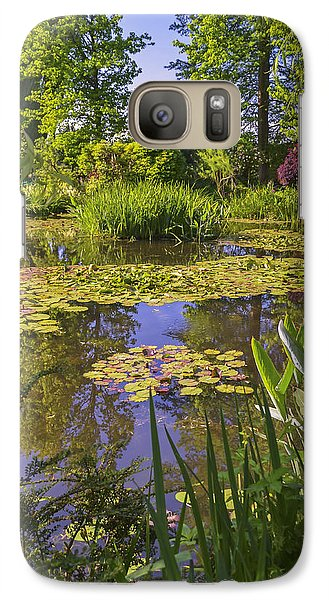 Galaxy Case featuring the photograph Giverny France - Claude Monet's Pond  by Allen Sheffield