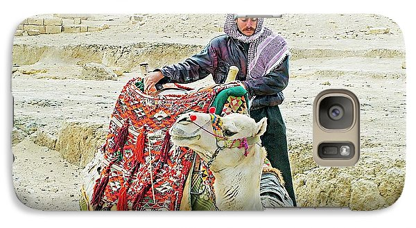 Galaxy Case featuring the photograph Giza Camel Taxi by Joseph Hendrix