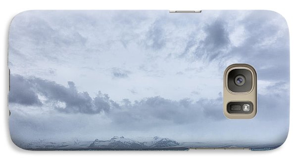 Galaxy Case featuring the tapestry - textile Glacial Lagoon Iceland by Kathy Adams Clark