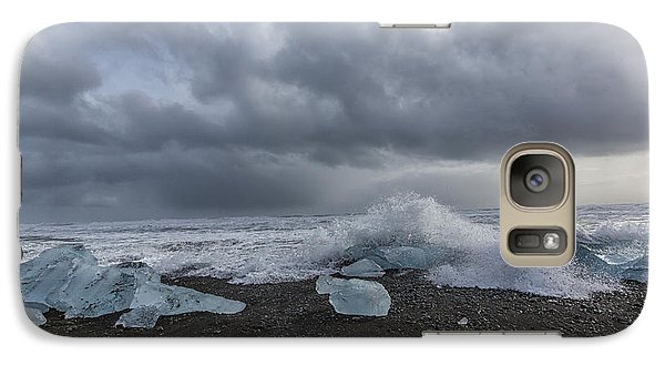 Galaxy Case featuring the tapestry - textile Glacier Ice 2 by Kathy Adams Clark