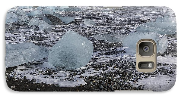 Galaxy Case featuring the tapestry - textile Glacier Ice 3 by Kathy Adams Clark