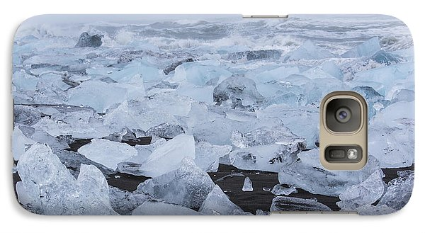 Galaxy Case featuring the tapestry - textile Glacier Ice by Kathy Adams Clark