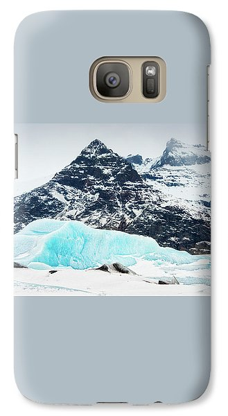 Galaxy Case featuring the photograph Glacier Landscape Iceland Blue Black White by Matthias Hauser