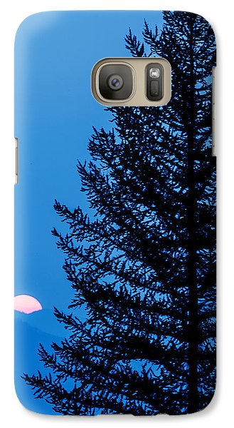 Galaxy Case featuring the photograph Glacier National Park Sunset Blue by Kevin Blackburn
