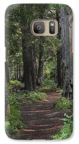 Galaxy Case featuring the photograph Glacier National Park Woodland Trail by Kevin Blackburn