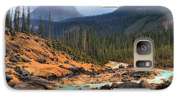 Galaxy Case featuring the photograph Glacier Waters Flowing Through Yoho National Park by Adam Jewell