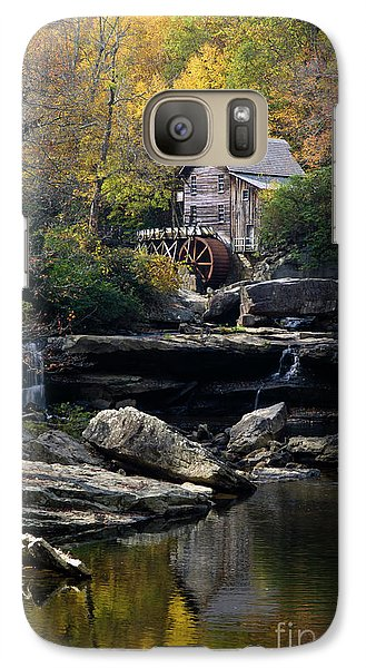 Galaxy Case featuring the photograph Glade Creek Grist Mill - D009975 by Daniel Dempster