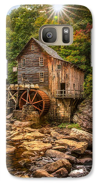 Galaxy Case featuring the photograph Glade Creek Mill Fall by Rebecca Hiatt
