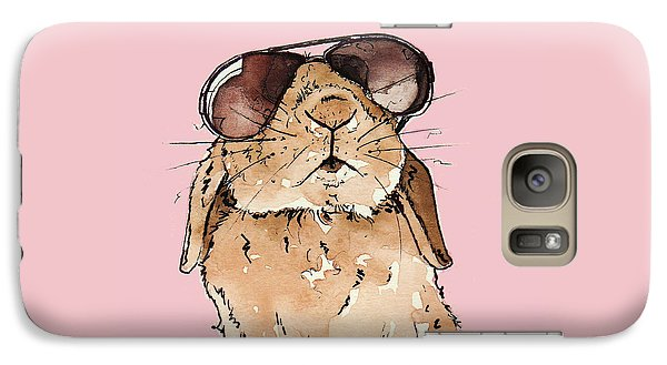 Glamorous Rabbit Galaxy Case by Katrina Davis