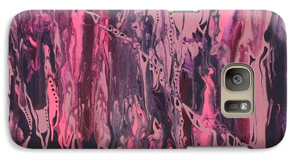 Galaxy Case featuring the painting Glamour Puss by Pat Purdy