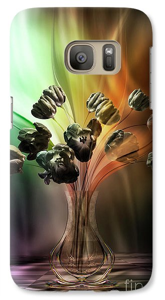 Galaxy Case featuring the digital art Glasblower's Tulips by Johnny Hildingsson