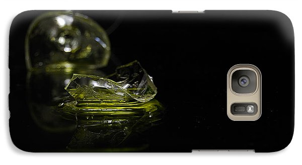 Galaxy Case featuring the photograph Glass Shard by Susan Capuano