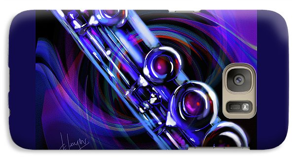 Galaxy Case featuring the painting Glassical Flute by DC Langer