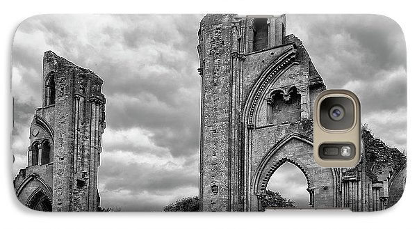 Galaxy Case featuring the photograph Glastonbury Abbey by Elvira Butler