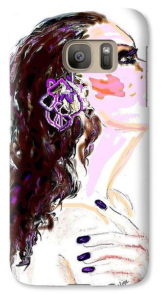 Galaxy Case featuring the digital art Glaze by Desline Vitto