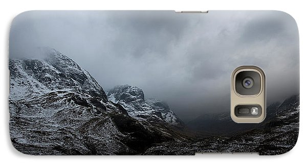 Galaxy Case featuring the digital art Glencoe - Three Sisters by Pat Speirs