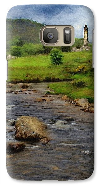Galaxy Case featuring the painting Glendalough In The Distance by Jeff Kolker