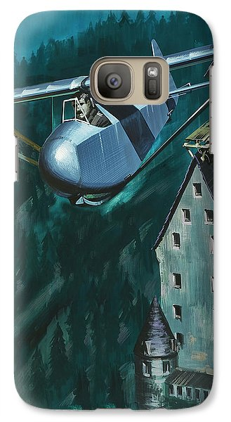 Glider Escape From Colditz Castle Galaxy S7 Case by Wilf Hardy