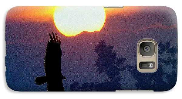 Galaxy Case featuring the photograph Gliding By The Sun by J R Seymour
