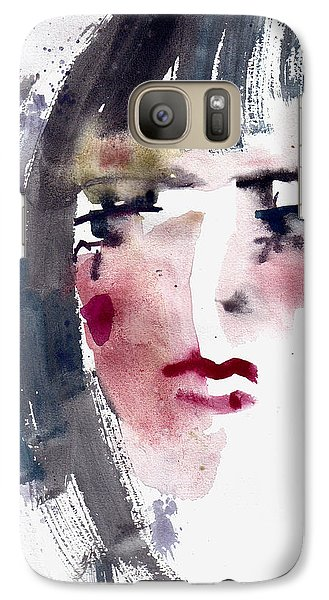 Galaxy Case featuring the painting Gloomy Woman  by Faruk Koksal