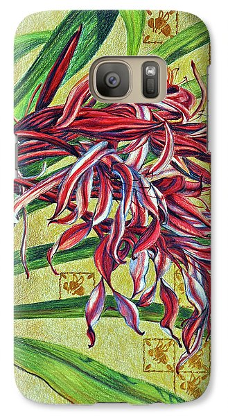 Galaxy Case featuring the drawing Glorious Crinum by Suzanne McKee