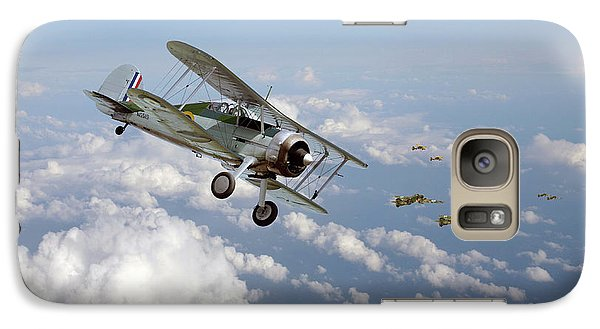 Galaxy Case featuring the digital art  Gloster Gladiator - Malta Defiant by Pat Speirs