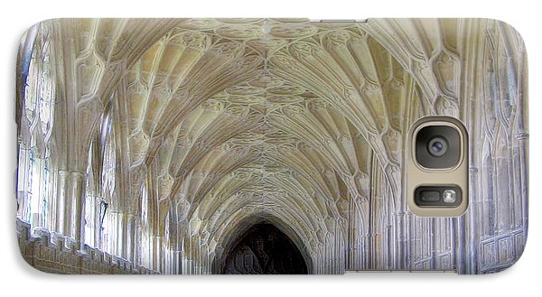Galaxy Case featuring the photograph Gloucester Cathedral Cloisters by Nigel Fletcher-Jones