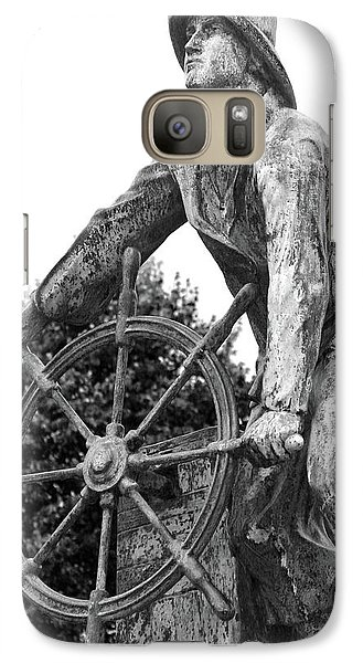 Galaxy Case featuring the photograph Gloucester Fisherman's Memorial by Mitch Cat