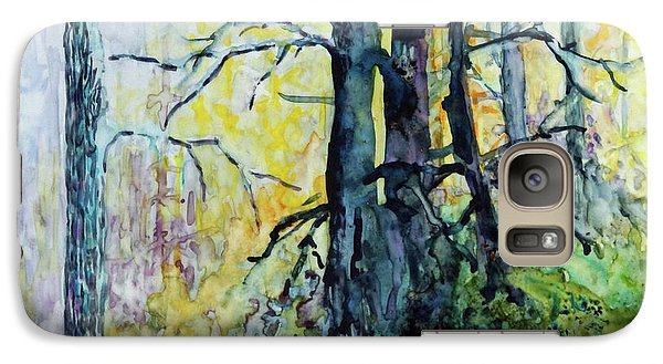 Galaxy Case featuring the painting Glow From The Tamarack by Joanne Smoley